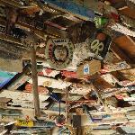 Beach Nuts bar ceiling
