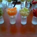 Fruitsalad as an example of catering excellence at this convention center