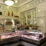 Art Nouveau interior of excellent delicatessen shop Depuydt