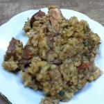pork & sausage jambalaya