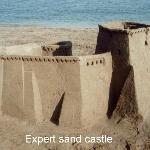 Perfect sand castle sand!