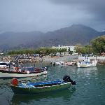 Frangokastello harbour and Flisvos Taverna/ rooms