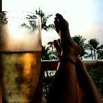 Complimentary honeymoon champagne!