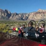Just trailing a group up Red Rock Canyon... You have to try this once!
