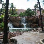one of many of the beautiful water features at Atlantis
