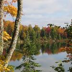 Fall color on Halfway Lake,