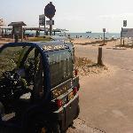 en la playa del saler
