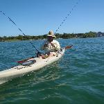 Kayaking across the intercoastal,, Look Out Redfish!!