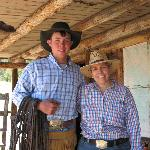Me and Colten, one of the wranglers and very sweet young man.
