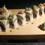 Roll 4 Ever - seared albacore, avocado, spicy tuna!