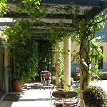 Courtyard Pergola at the Beach House