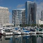 Marriott Towers with marina in foreground