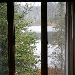 View of the lake from Cabin 5