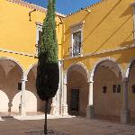 Courtyard of the Tavira Pousada, including some open air seating for the restaurant