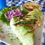 italian chicken wrap- yum!