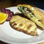 Spinach, Feta, and Egg Calzone, so flavorful!