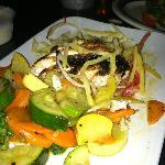 Blackened Mahi Mahi with Veggies/Mango Slaw (I dug in too fast before the picture!)