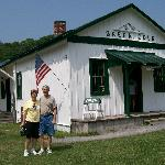 Old train depot on the trail