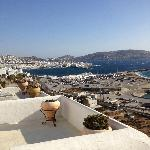 Overlooking the town of Mykonos