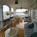 Front porch overlooking Lake George