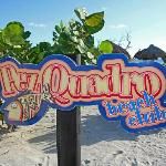 The Pez Quadro Beach Club Sign