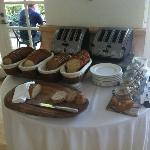 Bread/Toast station at Breakfast