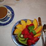 fresh fruit to start breakfast
