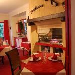 diner devant la cheminée