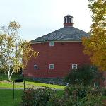 The round barn, relocated to the Shelburne Museum by helicopter
