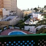 plage visible du balcon