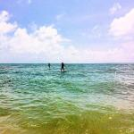 stand up paddle boarding on Lamai beach