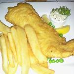 Fresh Atlantic Cod Fish and Chips in beer batter