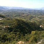 Panorama (Val di Comino) dalla terrazza del Ristorante