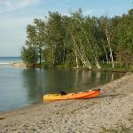 Beach at Camper's Cove Campground, Clearwater Lake