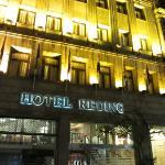 voorkant hotel, nog geen 5 minuten lopen van de Ramblas