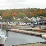 McSeagull's - Boothbay Harbor MAINE - view to the boat docks