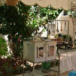 Beit Sitti's outdoor kitchen
