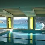 Stunning view from spa area indoor pool