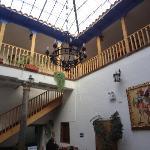Escadas para os quartos