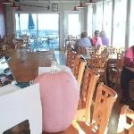 The dining room over they working waterfront