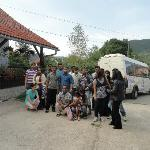 Our group in front of the Apartments Ilija