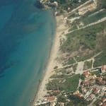 Tsilivi beach from the air.