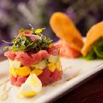 Refreshingly light Ahi Tuna is a healthy way to start your night.