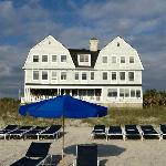 View of Elizabeth Point Inn from the beach