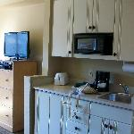 """Kitchenette"" in master bedroom"