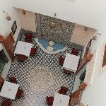 View of courtyard from the room