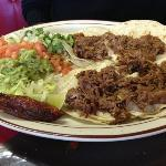 4 shredded beef tacos--delicious!