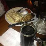 Chicken cordon bleu and Oatmeal Stout. best meal in AK in the last 6 months.