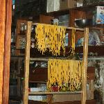 Hand made noodles in the Tree house kitchen