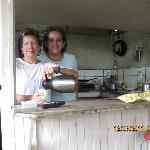 Elena & Hostel Owner Making  Breakfast